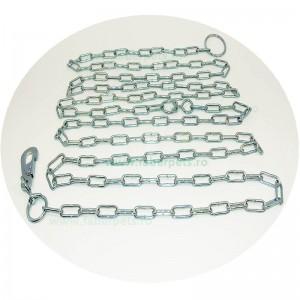 Lant curte cu inel si carabina 4 mm x 500 cm