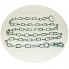 Lant curte cu inel si carabina 5 mm x 300 cm