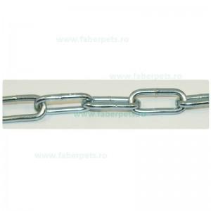 Lant curte cu inel si carabina 5 mm x 400 cm
