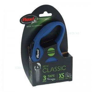 Lesa retractabila FLEXI NEW CLASSIC XS cu banda 3 m 12 kg