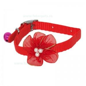 Zgarda chinga decorata cu floare 1x30 cm 12/set