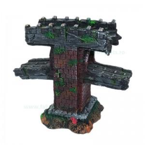Ornament acvariu ruina pod etajat 20x19 cm