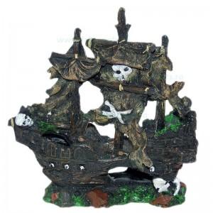 Ornament acvariu epava corabie mare 23 x 23 cm