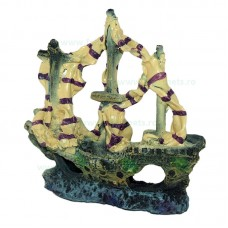 Ornament acvariu epava corabie tip 7345 12 x 12 cm