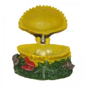 Ornament acvariu scoica cascatoare 10x8 cm