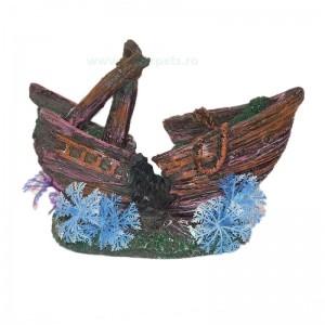 Ornament acvariu corabie 15 cm