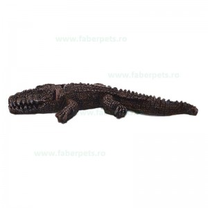 Ornament acvariu crocodil mic cascator 18 cm
