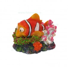 Ornament acvariu pestisor NEMO clampanit 12 cm