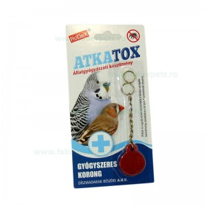 Medalion antiparazitar ATKATOX pentru pasari 10/set
